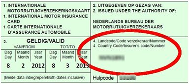 Groene kaart nummer